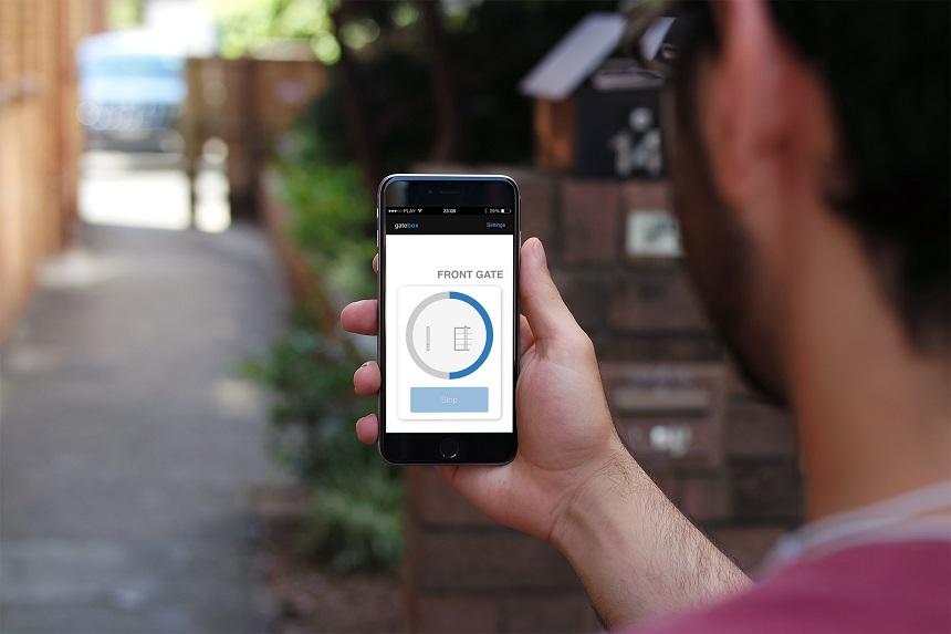 gatebox - otwieranie bramy przez smartfona