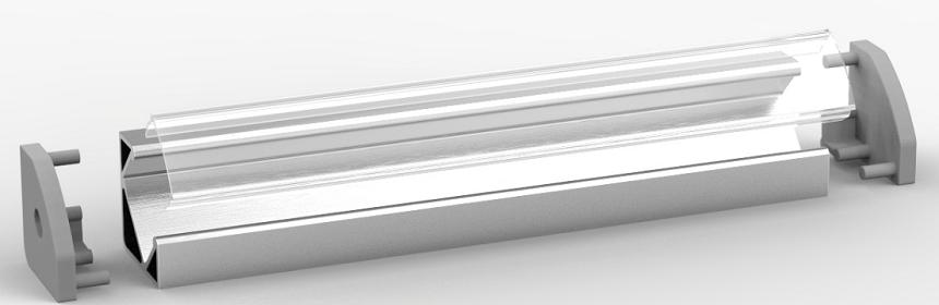 profil aluminiowy do led kątowy nawierzchniowy