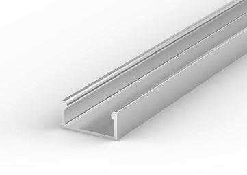 Profil aluminiowy LED P4 nawierzchniowy anodowany wąski 1m Tech Light