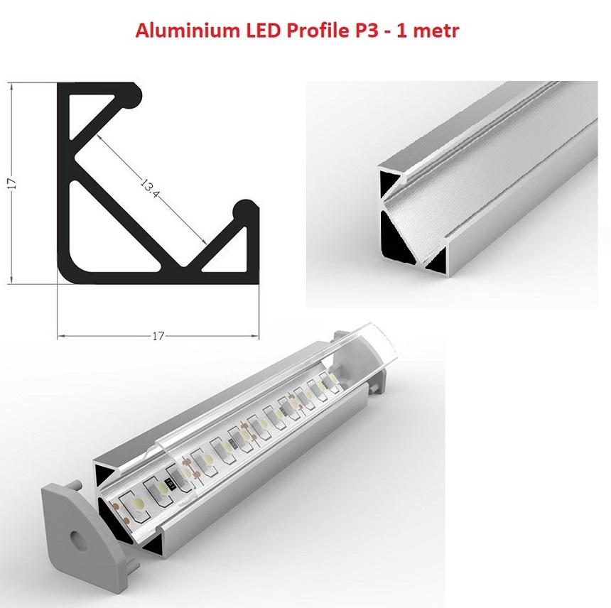 profil aluminium led p3 1metr