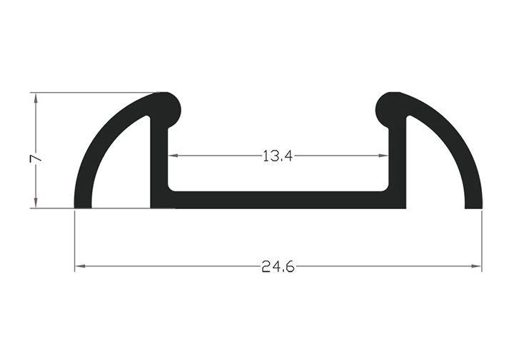 profile aluminiowe anodowane led p2 schemat