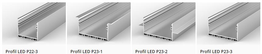 Profile do budowy opraw o dużej wydajności świetlnej