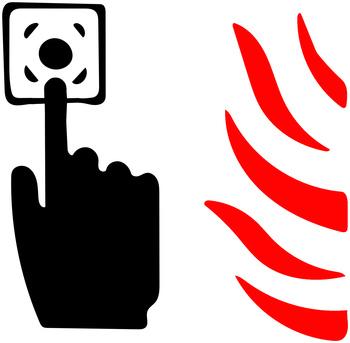 przycisk pożar
