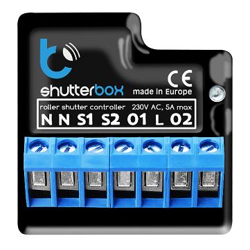 Blebox ShutterBox 2.0 – sterownik WiFi do rolet okiennych 230V