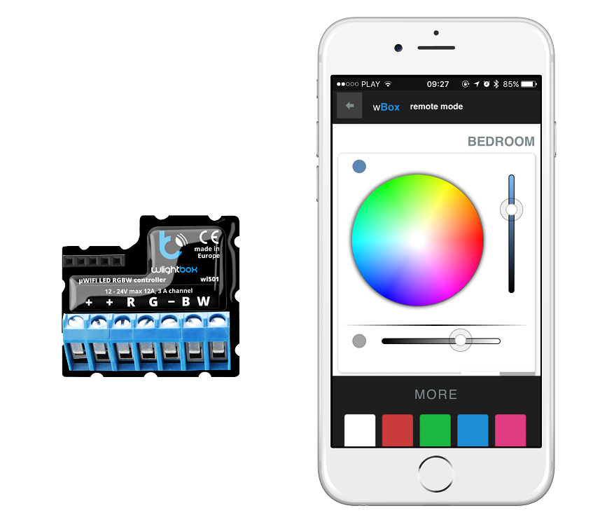 wlight box sterowanie iphone