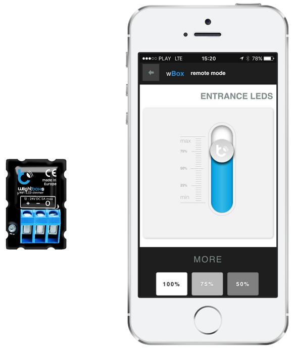 wlightboxs sterowanie smartfonem